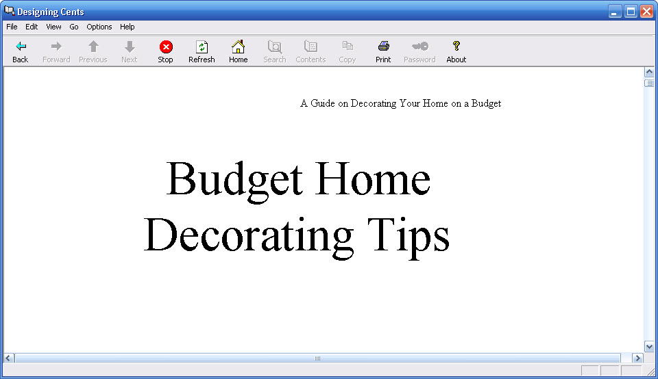 Click to view Cheap Home Decorations 1.0 screenshot